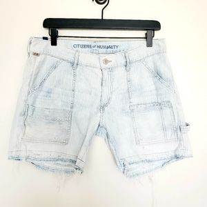 COH distressed denim shorts